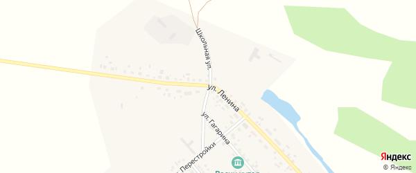 Улица Ленина на карте поселка Политотдела Омской области с номерами домов