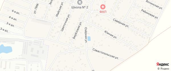 Озерная улица на карте Приветной деревни Омской области с номерами домов