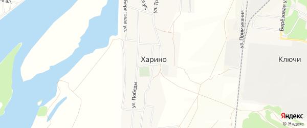 Карта села Харино в Омской области с улицами и номерами домов