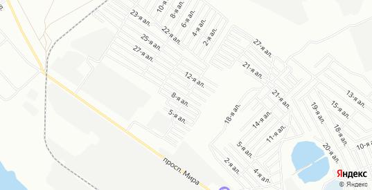 Карта поселка сдт Деревообработчик (САО) в Омске с улицами, домами и почтовыми отделениями со спутника онлайн