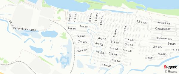 Карта поселка сдт Опора (КАО) города Омска в Омской области с улицами и номерами домов