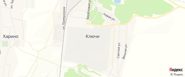 Карта поселка Ключи в Омской области с улицами и номерами домов