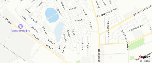 Карта поселка сдт Химик (САО) города Омска в Омской области с улицами и номерами домов