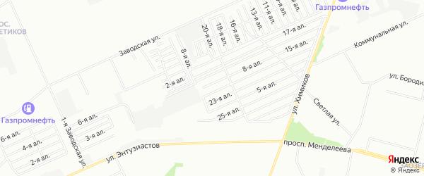 Карта поселка сдт Строитель (САО) города Омска в Омской области с улицами и номерами домов