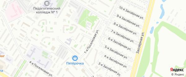 1-я Поселковая улица на карте Омска с номерами домов