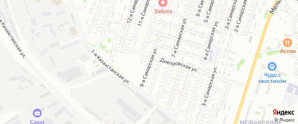 9-я Самарская улица на карте Омска с номерами домов