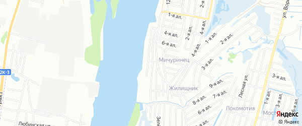 Карта поселка сдт Портовик (ЛАО) города Омска в Омской области с улицами и номерами домов
