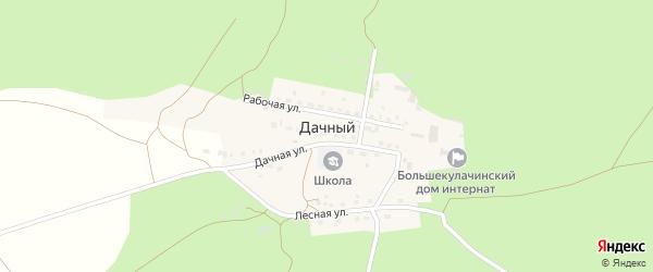 Рабочая улица на карте Дачного поселка Омской области с номерами домов