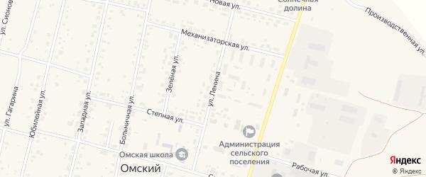 Улица Ленина на карте Омского поселка Омской области с номерами домов