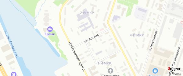 Улица Артема на карте Сургута с номерами домов
