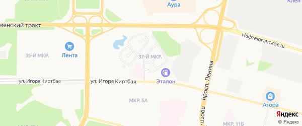 Северный район на карте Радужного с номерами домов