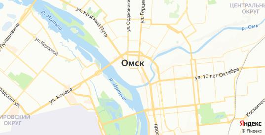 Карта Омска с улицами и домами подробная. Показать со спутника номера домов онлайн