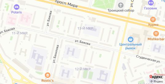 Улица Бажова в Сургуте с номерами домов на карте. Спутник и схема онлайн