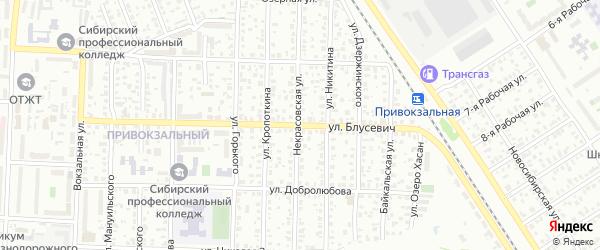 Улица Блусевич на карте Омска с номерами домов