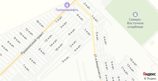 Карта поселка сдт Учитель (ЦАО1) в Омске с улицами, домами и почтовыми отделениями со спутника онлайн