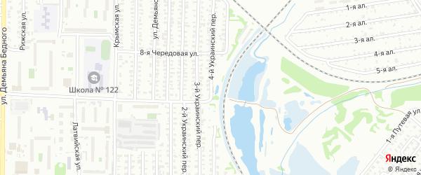 4-й Украинский переулок на карте Омска с номерами домов