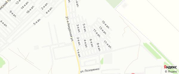 Карта поселка сдт Ромашка (ЦАО1) города Омска в Омской области с улицами и номерами домов