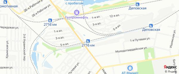 Карта железнодорожной остановки 2718 км города Омска в Омской области с улицами и номерами домов