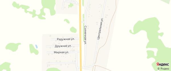 Солнечная улица на карте деревни Давыдовки Омской области с номерами домов