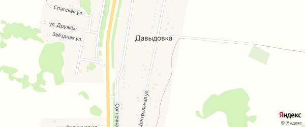 Центральная улица на карте деревни Давыдовки Омской области с номерами домов