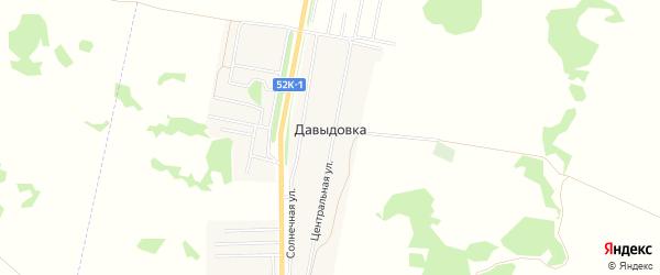 Карта деревни Давыдовки в Омской области с улицами и номерами домов
