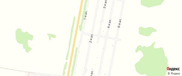 2-я аллея на карте деревни Давыдовки Омской области с номерами домов