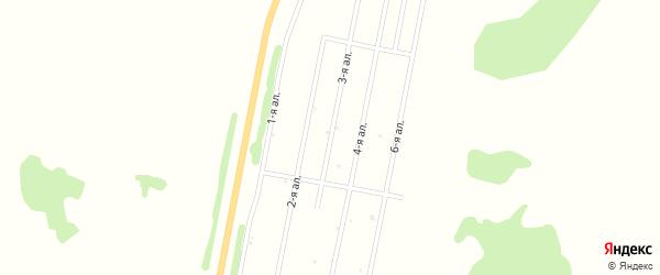 3-я аллея на карте деревни Давыдовки Омской области с номерами домов