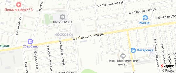 6-я Станционная улица на карте Омска с номерами домов