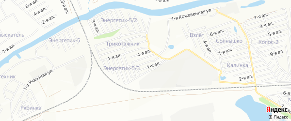 Карта поселка сдт Союз (ЦАО2) города Омска в Омской области с улицами и номерами домов