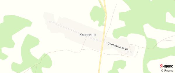 Карта деревни Классино в Омской области с улицами и номерами домов
