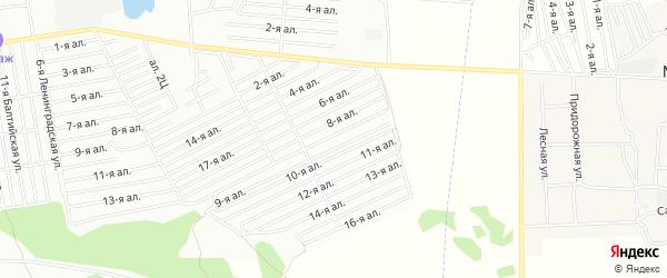 Карта поселка СНТ Птицевод (ЛАО) города Омска в Омской области с улицами и номерами домов