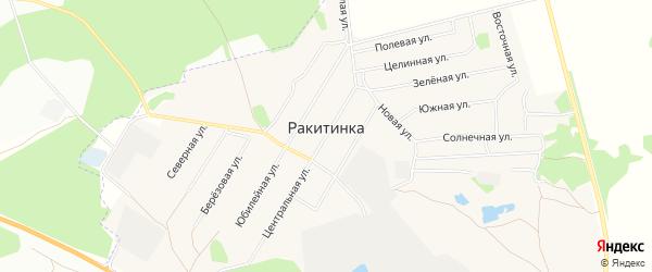 Карта деревни Ракитинка (Морозовского с/п) в Омской области с улицами и номерами домов
