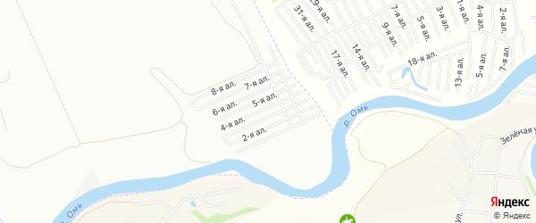 Карта поселка сдт Элита (ЦАО1) города Омска в Омской области с улицами и номерами домов