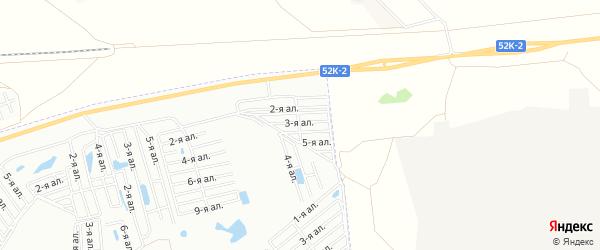 Карта поселка СДТ Сатурн(ОАО) города Омска в Омской области с улицами и номерами домов