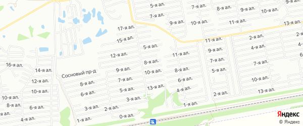 Карта поселка сдт Прогресс (ОАО) города Омска в Омской области с улицами и номерами домов