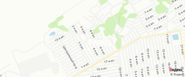 Карта садового некоммерческого товарищества Урожая (ЛАО) города Омска в Омской области с улицами и номерами домов