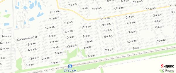 Карта поселка сдт Лесное (ОАО) города Омска в Омской области с улицами и номерами домов
