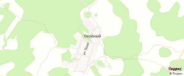 Карта Хвойного поселка в Омской области с улицами и номерами домов