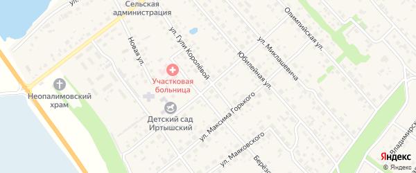 Улица Л.Чайкиной на карте Иртышского поселка Омской области с номерами домов