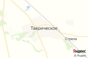 Карта пгт Таврическое Омская область