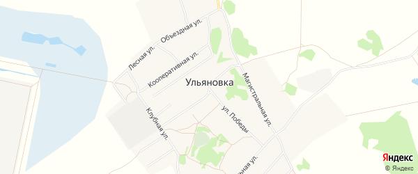 Карта села Ульяновки в Омской области с улицами и номерами домов