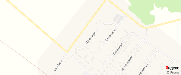 Дачная улица на карте села Калинино Омской области с номерами домов