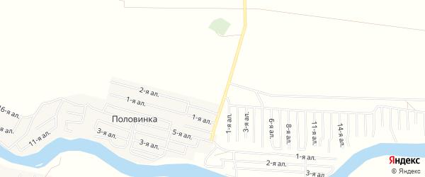 Карта деревни Половинки в Омской области с улицами и номерами домов