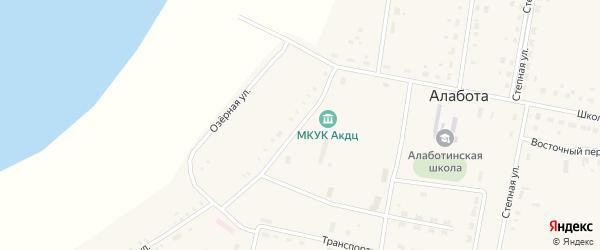 Набережная улица на карте села Алаботы Омской области с номерами домов