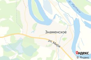 Карта с. Знаменское Омская область