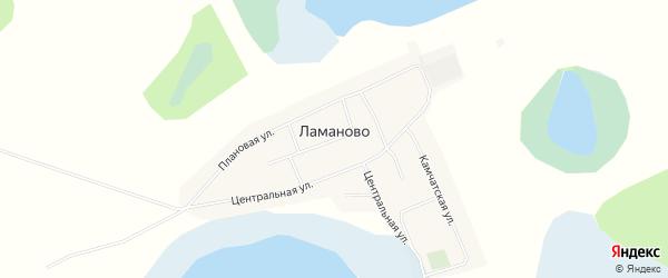 Карта села Ламаново в Омской области с улицами и номерами домов
