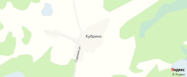 Карта деревни Кубрино в Омской области с улицами и номерами домов