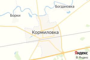 Карта пгт Кормиловка Омская область