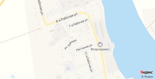 Улица Ермака в Таре с номерами домов на карте. Спутник и схема онлайн