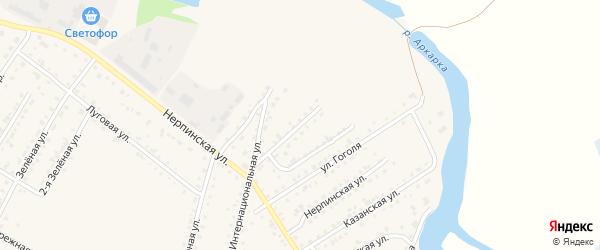 Комсомольская улица на карте Тары с номерами домов
